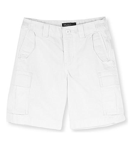 RALPH LAUREN M45 cotton cargo shorts 2-7 years (White