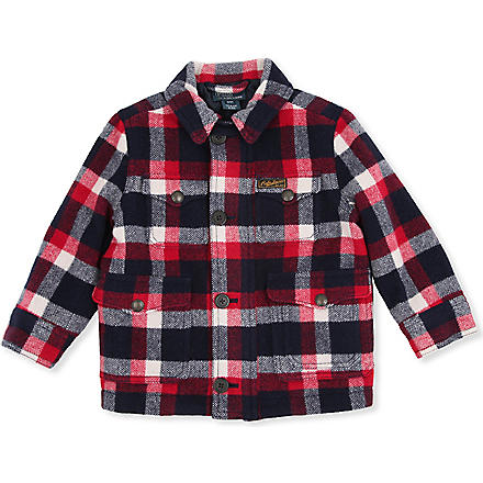 RALPH LAUREN Plaid wool jacket 2-7 years (Northwest red/c