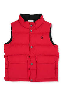 RALPH LAUREN Varsity down vest 2-7 years