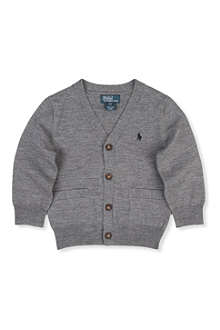 RALPH LAUREN V-neck cardigan with elbow patches 2-7 years
