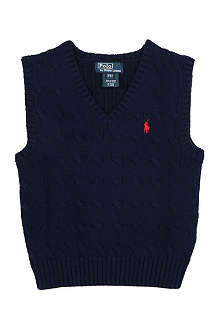 RALPH LAUREN Classic cable-knit vest 2-7 years
