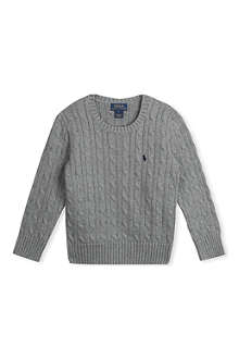 RALPH LAUREN Classic cable-knit jumper 5-7 years