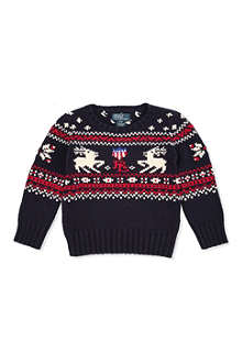 RALPH LAUREN Reindeer knitted jumper 2-7 years