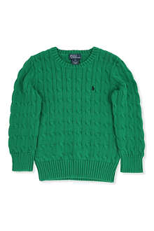 RALPH LAUREN Ralph Lauren cable knit jumper 2-7 years
