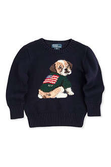 RALPH LAUREN Intarsia-knit dog sweater 2 - 7 years