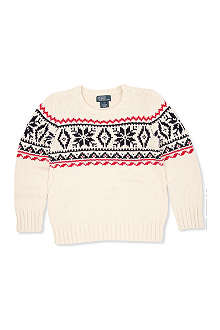 RALPH LAUREN Snowflake patterned jumper 2-7 years