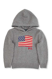RALPH LAUREN Intarsia-knit flag hoody 2 - 7 years