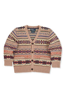 RALPH LAUREN Fair Isle V-neck cardigan 2-7 years