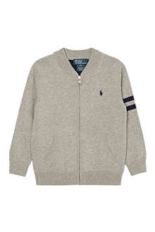 RALPH LAUREN Zipped cotton cardigan 2-7 years