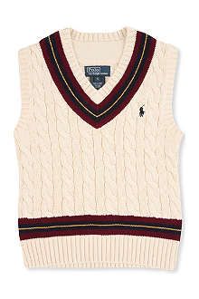 RALPH LAUREN V-neck cricket vest 2 - 7 years