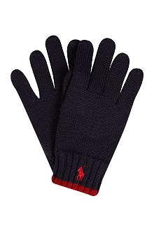 RALPH LAUREN Knitted wool gloves