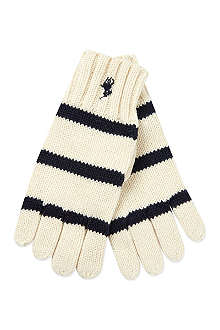 RALPH LAUREN Rugby striped gloves