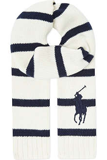RALPH LAUREN Rugby striped scarf