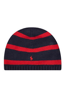 RALPH LAUREN Rugby striped knitted hat