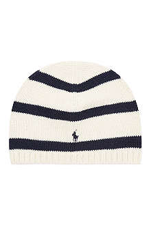 RALPH LAUREN Rugby striped skull hat