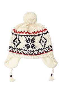 RALPH LAUREN Snowflake ear flap hat