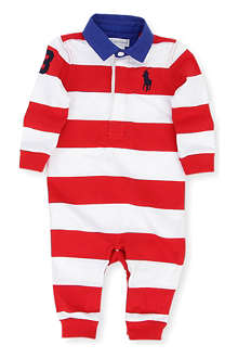 RALPH LAUREN Big Pony rugby baby-grow 3-9 months