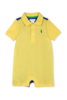 RALPH LAUREN Polo shorts bodysuit 3-18 months