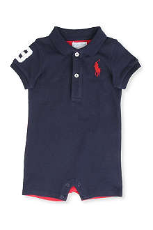 RALPH LAUREN Big Pony short baby-grow 3-9 months
