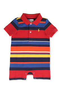 RALPH LAUREN Striped short baby-grow 3-9 months