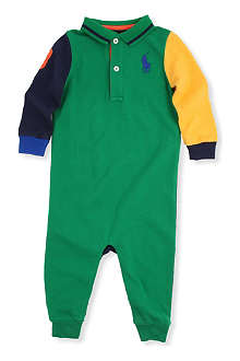 RALPH LAUREN Colour-blocked bodysuit 3-9mths
