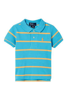 RALPH LAUREN Big Pony striped polo shirt 3-24 months