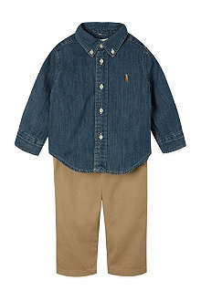 RALPH LAUREN Shirt and trousers set 3-12 months