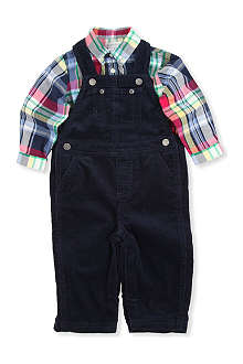 RALPH LAUREN Long-sleeved shirt and overall set 3-9 months