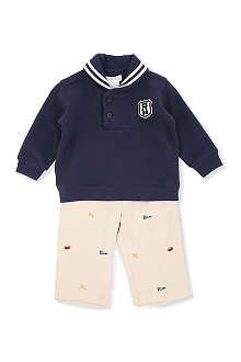 RALPH LAUREN Shawl sweatshirt and pant set 3-9 months