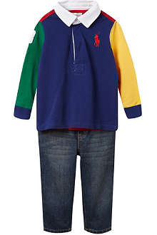 RALPH LAUREN Coming Going polo set 3-12 months