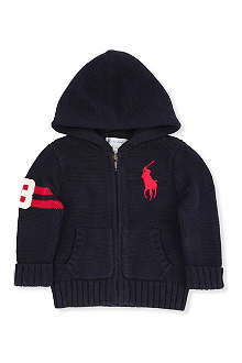 RALPH LAUREN Ralph Lauren zip through cardigan 3-9 months