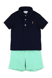 RALPH LAUREN Polo shirt and shorts set 3-18 months