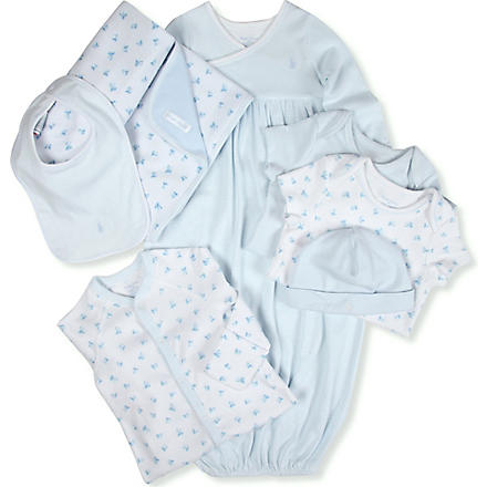 RALPH LAUREN Four-piece gift set 0-9 months (Blue