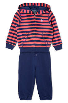 RALPH LAUREN Striped hoody and jogging bottoms 3-24 months