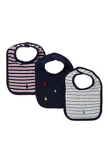 RALPH LAUREN Pack of three cotton bibs