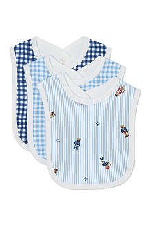RALPH LAUREN Set of 3 cotton bibs