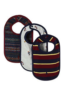 RALPH LAUREN Patterned bibs 3 pack