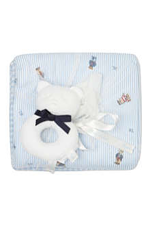 RALPH LAUREN Blanket and rattle set