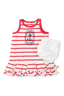 RALPH LAUREN Graphic dress and bloomers set 3-9 months