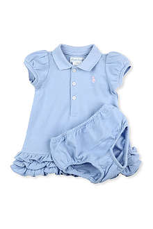 RALPH LAUREN Cupcake polo dress set 3-9 months