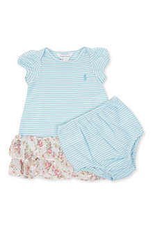 RALPH LAUREN Striped and floral dress 3-9 months