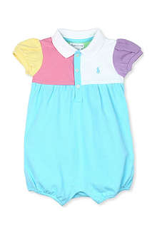 RALPH LAUREN Mesh bubble shortall bodysuit 3-18 months