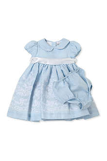 RALPH LAUREN Broderie anglaise dress and knicker set 3-6 months