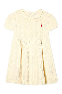 RALPH LAUREN Classic pleated cable knit dress 3-24 months