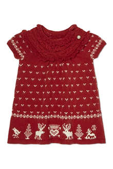 RALPH LAUREN Knitted reindeer dress 3-24 months