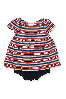 RALPH LAUREN Striped top and shorts set 3-9 months