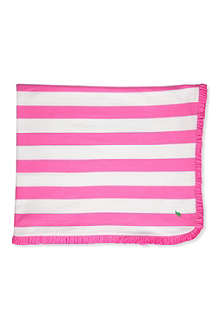 RALPH LAUREN Striped rugby blanket