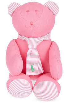 RALPH LAUREN Stripy scarf teddy bear