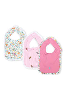 RALPH LAUREN Set-of-three cotton bibs