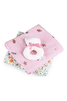 RALPH LAUREN Rl blanket rattle set